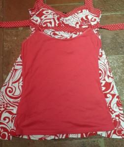 circular strap top fabric overlay